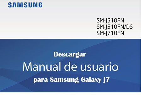 Descargar manual de usuario para Samsung Galaxy j7