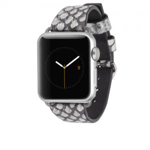 Rebecca Minkoff Snakeskin Band - Silver Apple Watch