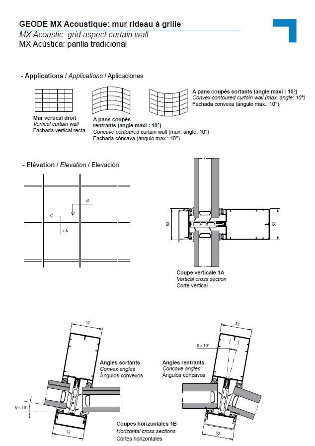 Mx Acoustic Grid Aspect Curtain Wall