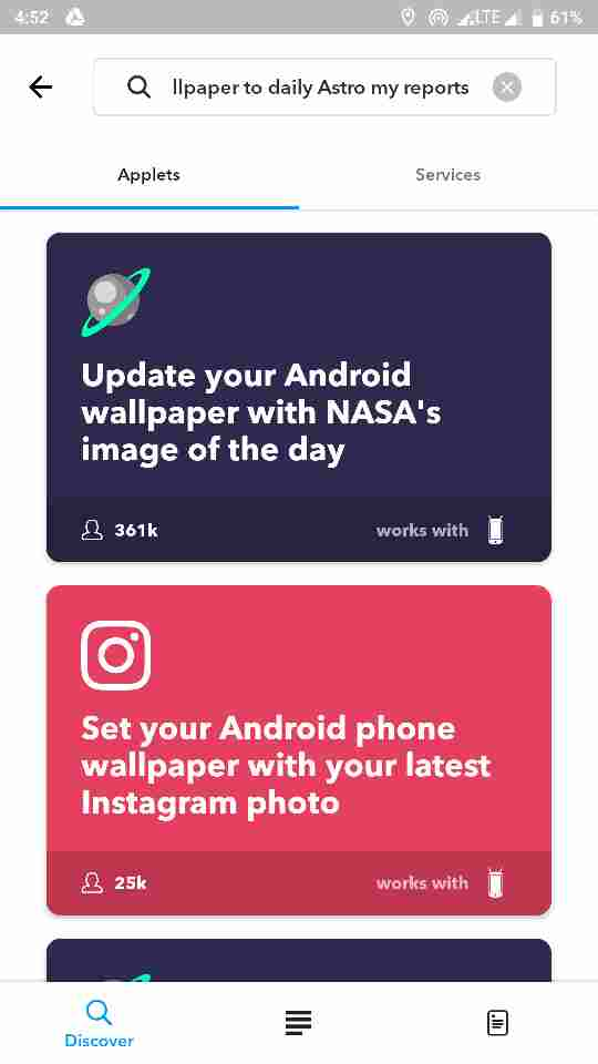 Rotate your wallpaper to daily astronomy pictures