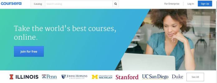 free online e-learning sites -courseera