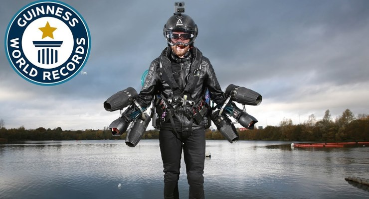 Richard Browning –  JET SUIT like IRON MAN Sets Guinness Record