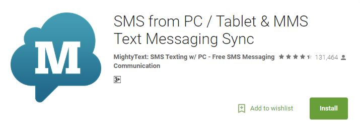 sms from pc best android apps