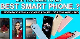 Redmi Note 5 Pro vs Redmi Y2 vs Oppo Real Me 1 vs Moto G6