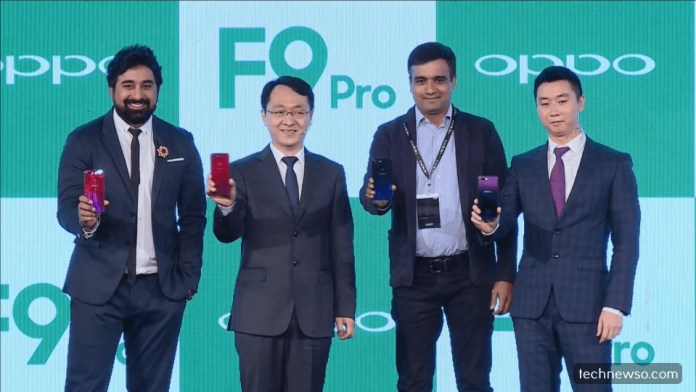 oppo f9 pro launch in india by oppo president