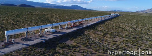 Hyperloop One's DevLoop Test Track in Nevada