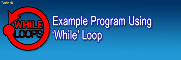 Program using While Loop