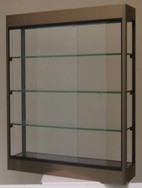 vitrine murale en aluminium et verre