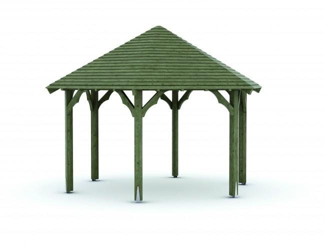 kiosque en bois hexagonale commandez