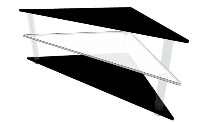 table tv d angle en plexiglas