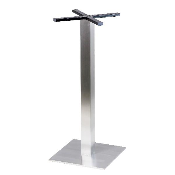 Pied De Table En Inox Base Carree Commandez Sur Techni Contact Pietement De Table En Inox