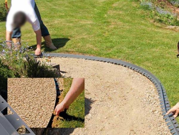bordure pvc pour jardin jardin