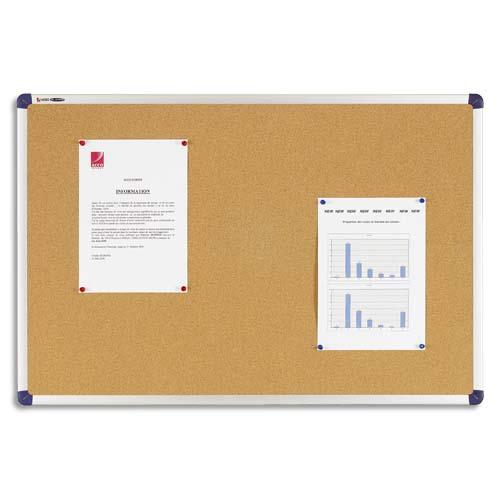 tableau d affichage liege elipse cadre aluminium 90x180cm