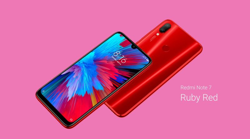 Redmi note 7 red colour