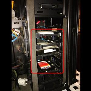 パソコンのHDD接続