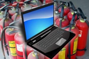岡崎市において愛知県全域まで消火器の販売、自動火災報知機の工事、整備、法定点検まで行なっています。パソコンの販売、修理、データ復旧、パソコンの故障を診断を岡崎市で行なっています