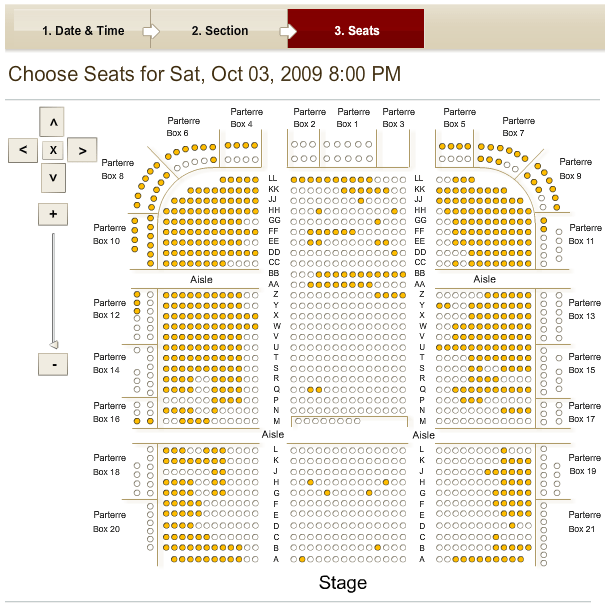Arlene Schnitzer Concert Hall Interactive Seating Chart