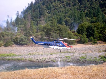 Redding Fire Helicopter