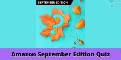 Amazon September Edition Quiz Answers