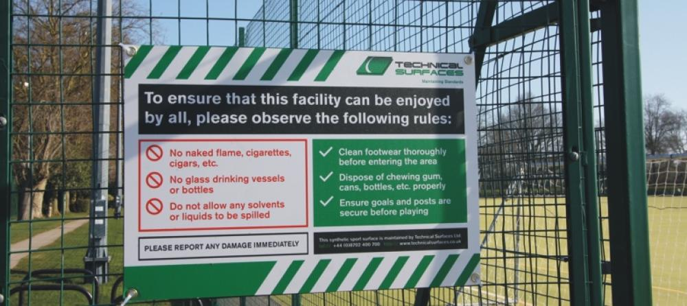 Pitch Signage Maintaining Standards