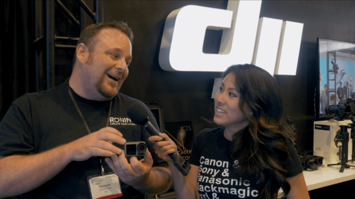 DJI Osmo Action at Cine Gear Expo 2019