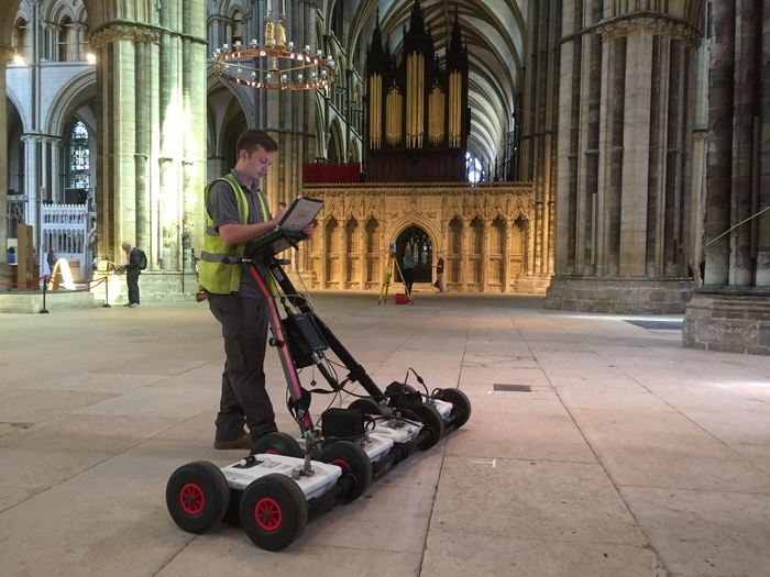 Ground penetrating radar survey at Lincoln Cathedral