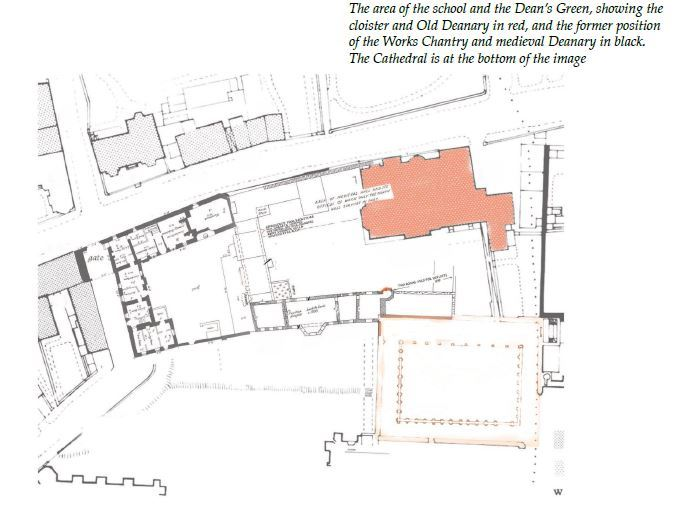 Site map of Lincoln Cathedral