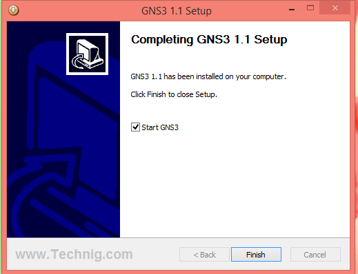 Completing GNS3 1.1 Setup
