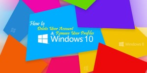 how to delete profile on windows 10