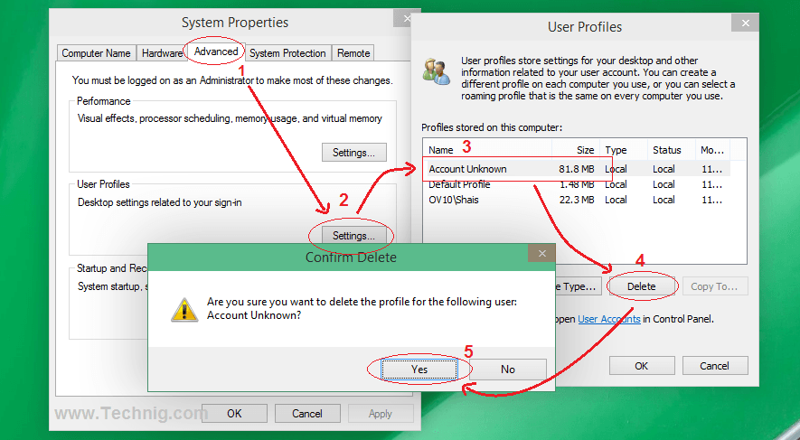 Remove User Profile From Your System Drive