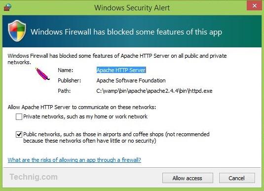 Firewall Worning