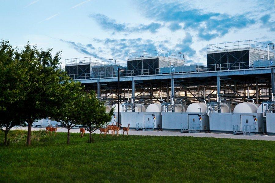Google data center in Council Bluffs Iowa