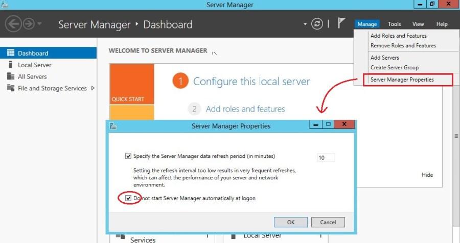 Server Manager Properties