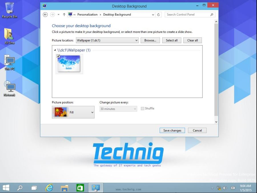 Change Desktop Background with Group Policy