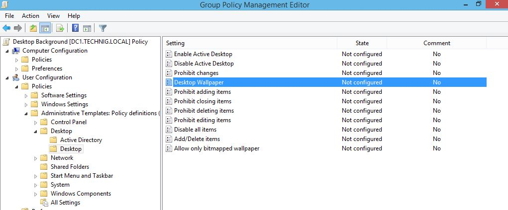 Windows Group Policy - User Configuration