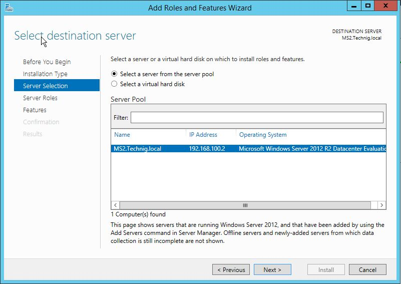 Destination Server for Windows Deployment Services