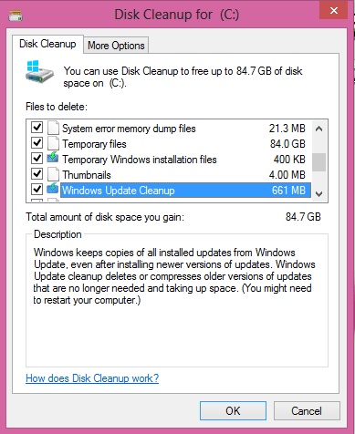 Disk Cleanup Wizard - Technig