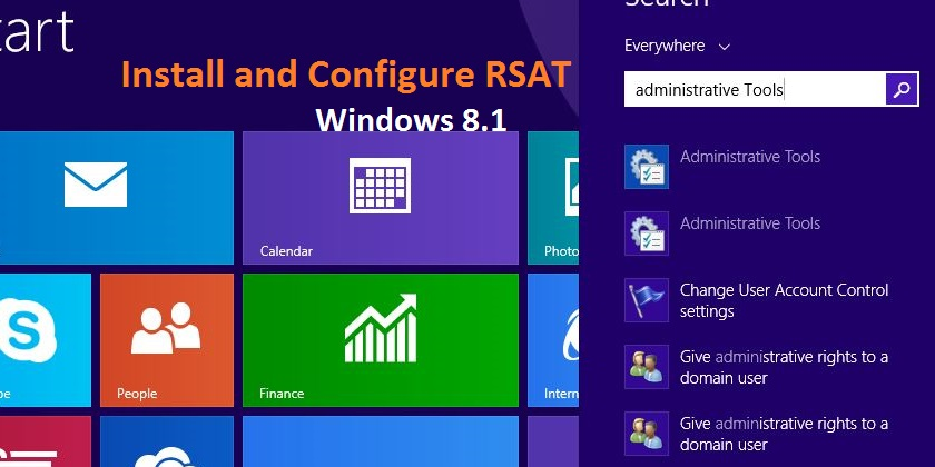 How to Install and Configure RSAT In Windows 8 1? - TECHNIG