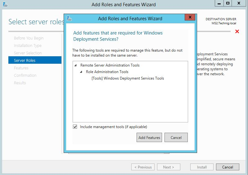 Windows Deployment Services Role