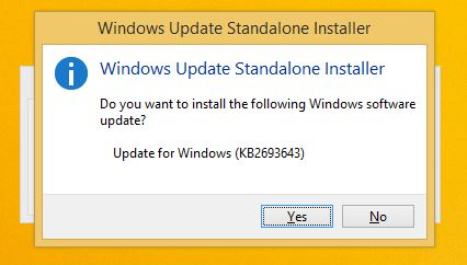 Windows Update Standalone Installer