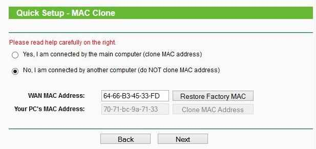 Clone Wireless Mac Address