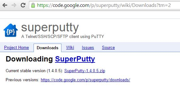 Download SuperPutty for GNS3