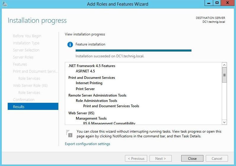 Print Server Installation Process