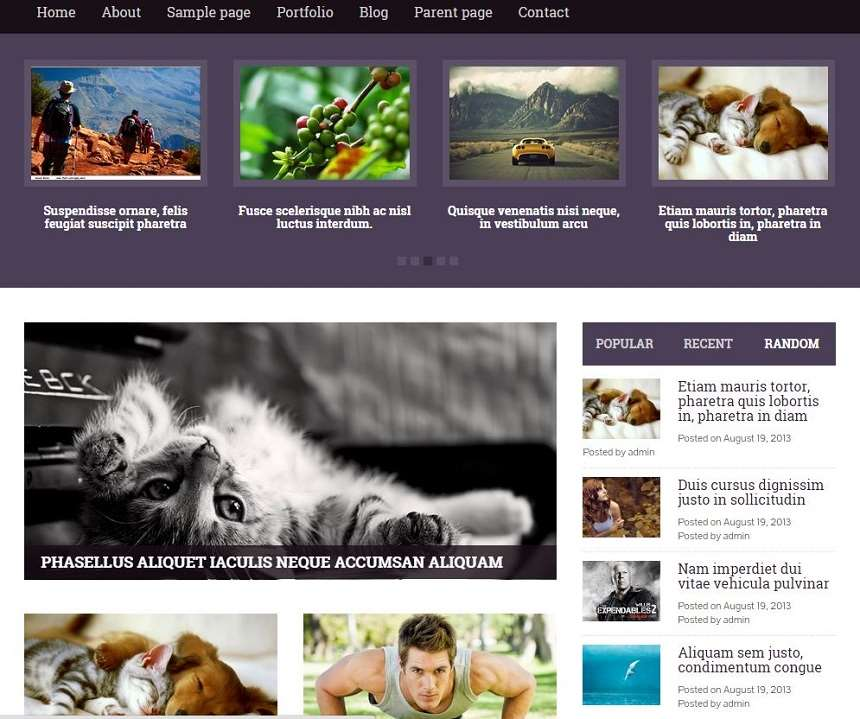 YEGOR Free WordPress Magazine Themes