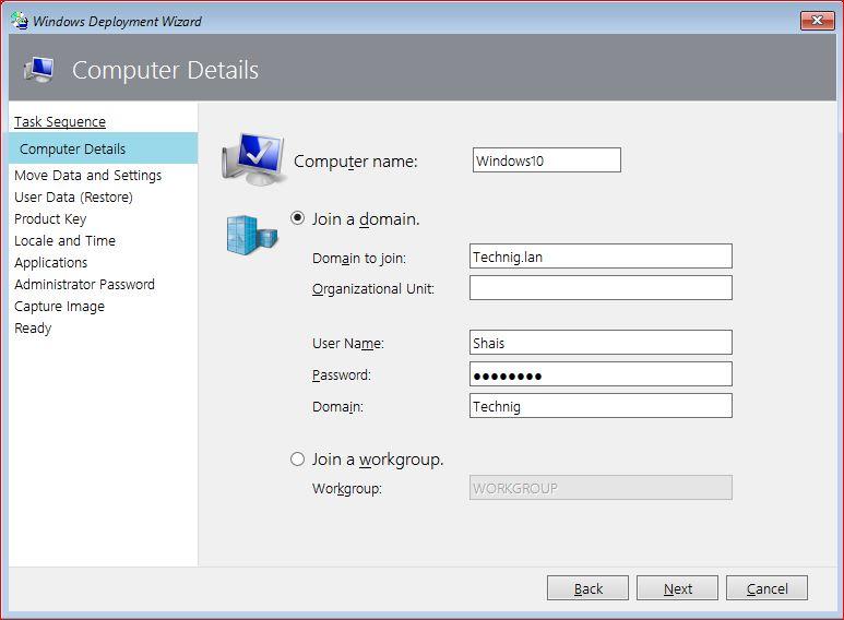 Computer Details for Windows 10 Deployment