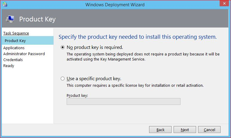Specify Product Key to Upgrade Windows 10