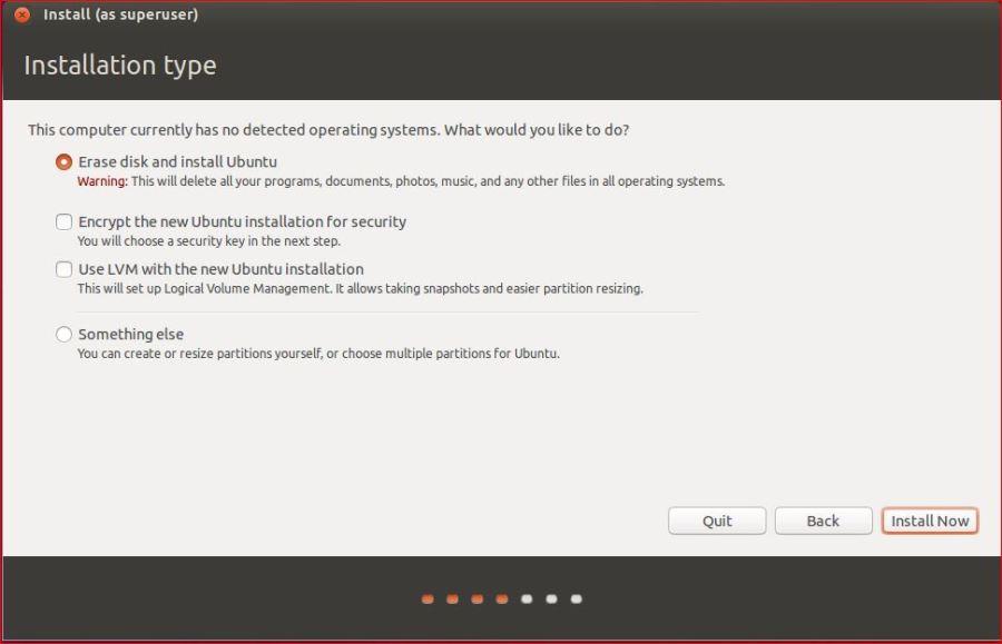 Ubuntu Installation Types