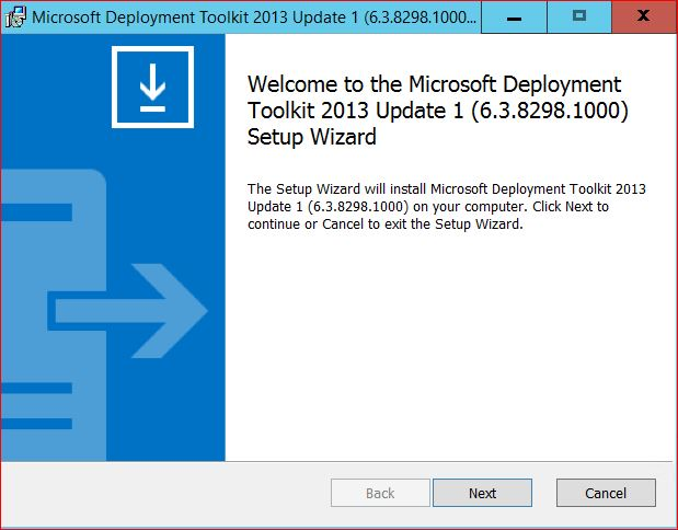 Welcome to Microsoft Deployment Tool Kit