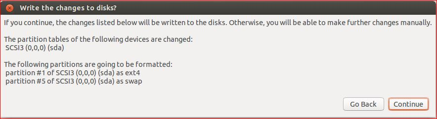 Write the changes to disks