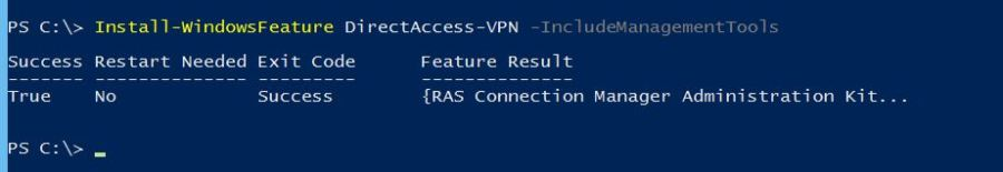 Install DirectAccess VPN with PowerShell